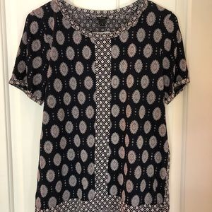 J Crew patterned top. Excellent condition. Small.